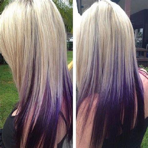 purple highlights in platinum blonde hair 193 best peinados images on pinterest hairstyle ideas