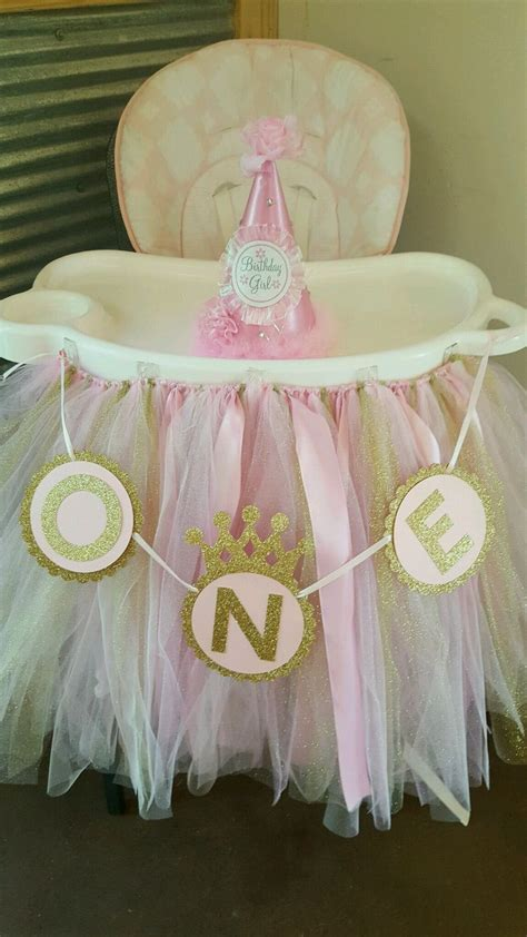 high chair tutu pink gold high chair tutu skirt pink and gold 1st