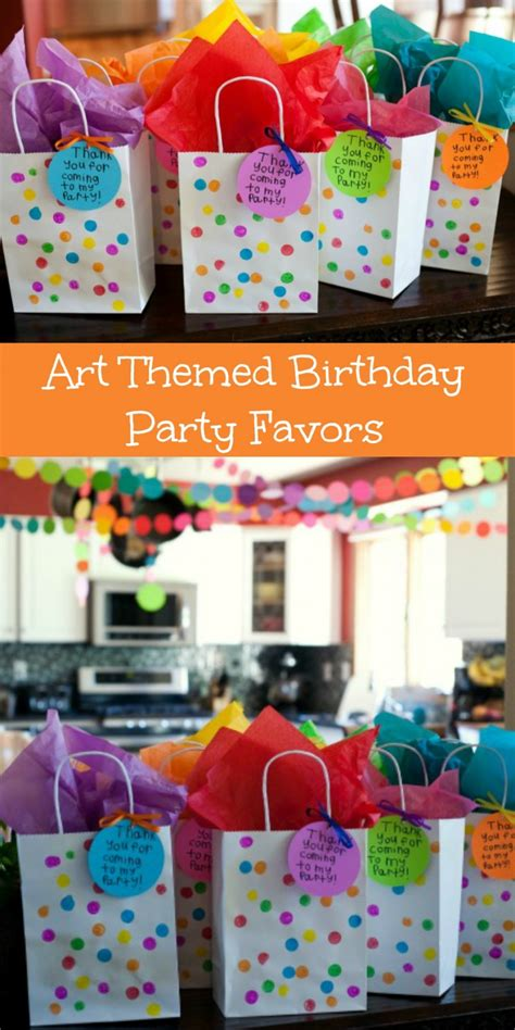 themed birthday party uk fun and usable art themed birthday party favors