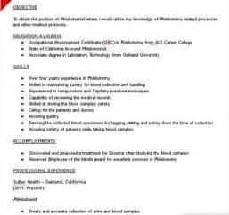 qualifications resume 50 phlebotomist resume sle