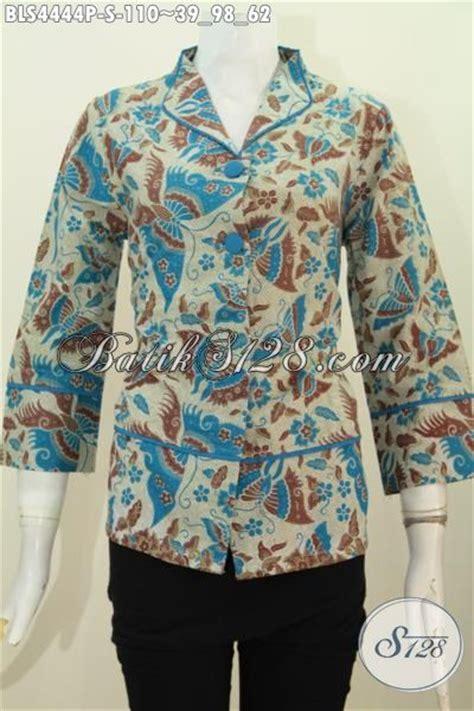desain baju batik yang bagus pakaian blus batik model terkini dengan desain kerah