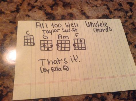 chord gitar taylor swift all too well here are the all too well taylor swift ukulele chords