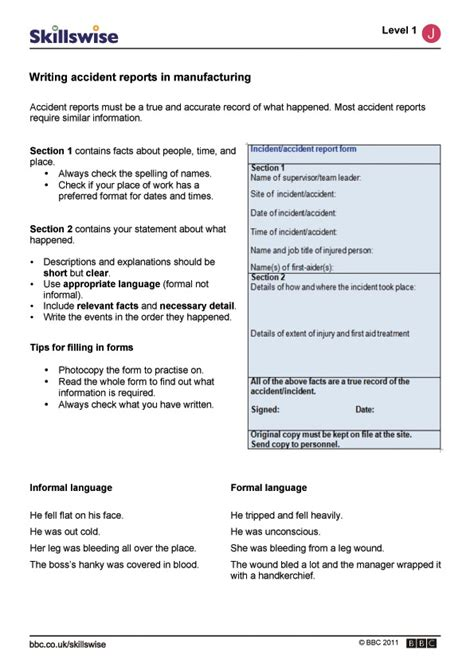 How To Write A Report Essay by Writing Reports In Manufacturing