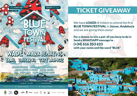 Ticket Giveaway - blue town festival ticket giveaway