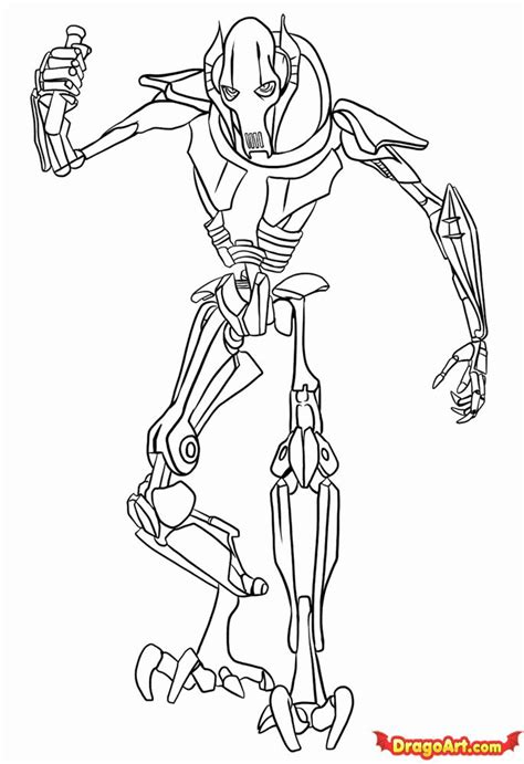 General Coloring Pages general grievous coloring pages printable coloring home