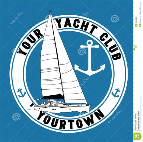 waves boat club prices yacht club emblem stock vector illustration of boat