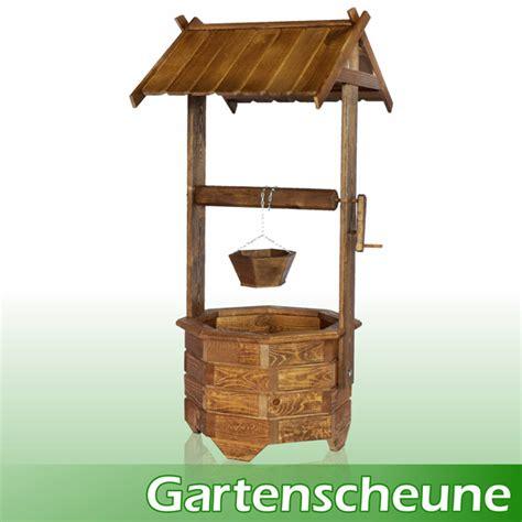 gartenscheune shop brunnen holzbrunnen gross zierbrunnen dekoration ebay