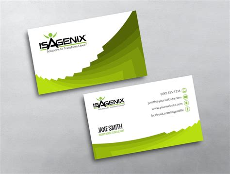 Isagenix Business Card Template 4 by Isagenix Business Card 03