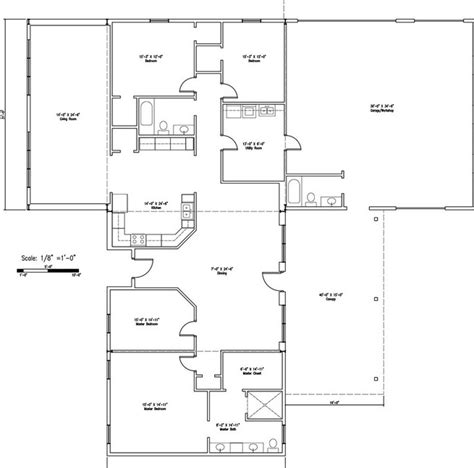 3 bed 2 bath floor plans top 20 metal barndominium floor plans for your home