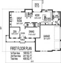 2 story 4 bedroom farmhouse house floor plans blueprints