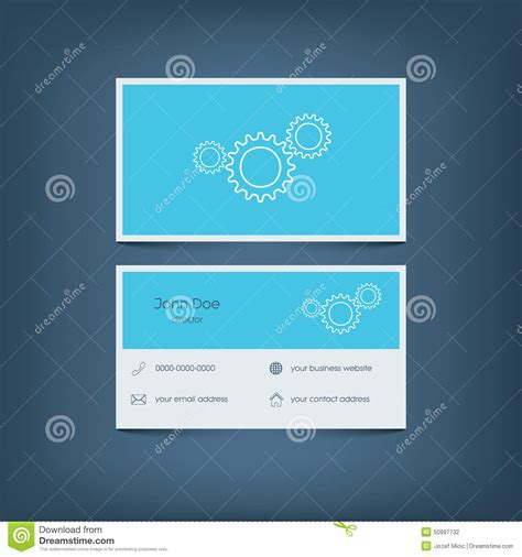 website card template simple basic website template with icons for