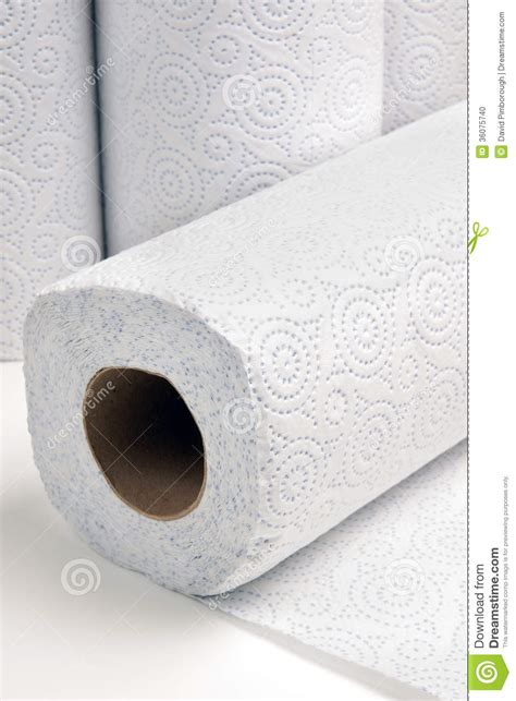 Paper kitchen towel stock photo. Image of roll, hygiene