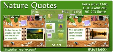 nokia x2 nature themes nature quotes theme for nokia c3 x2 01 asha 200 201 302