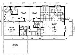 Ranch Style Floor Plan by Windham Ranch Style Modular Home Pennwest Homes Model S
