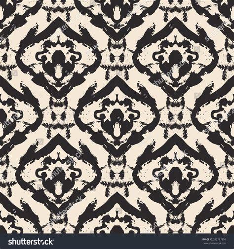 batik design wrapping paper hand drawn ikat batik painted seamless stock vector