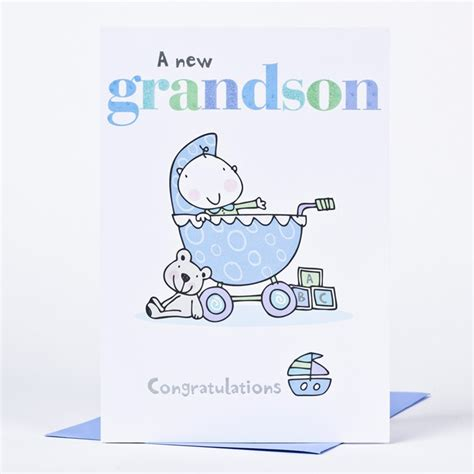 card grandson new baby card a new grandson only 89p