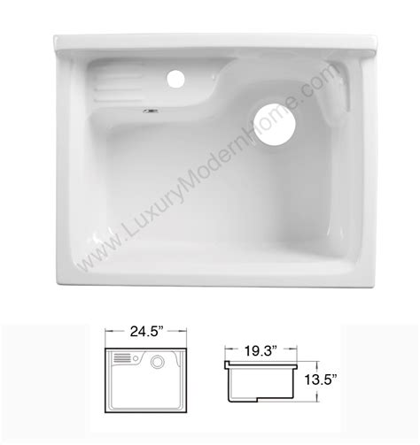 alexander 24quot white laundry utility sink