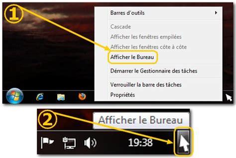 afficher le bureau windows 7 windows 7 ajouter le raccourci afficher le bureau dans