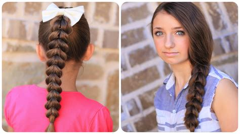 easy hairstyles for short hair for school youtube pull through braid easy hairstyles cute girls hairstyles