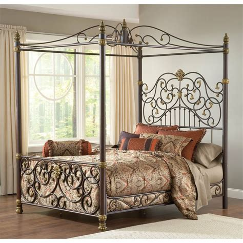 metal canopy bed iron canopy bed frame