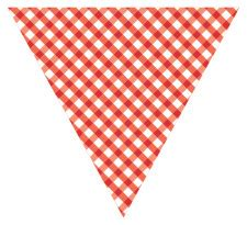red bunting  printables  bunting templates