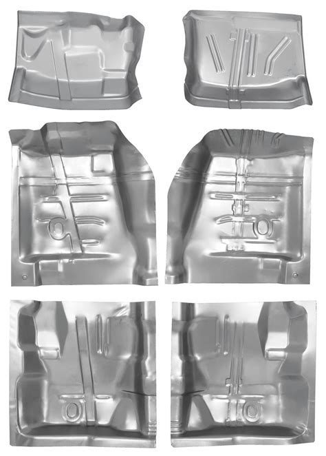 1970 72 Monte Carlo Floor Pan Sections Complete Set w