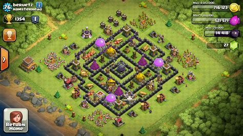 layout home base coc base layout town hall level 5 tipe defense coc indonesia
