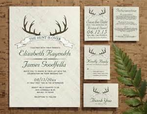 the hunt is wedding invitation set suite invites