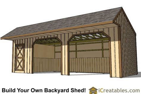 Tack Shed Plans by 12x30 Run In Shed Plans With Tack Room And Cantilever