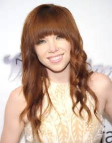 hairstyles lond front back with bangs carly rae jepsen long hairstyles 2014 cute hairstyle for