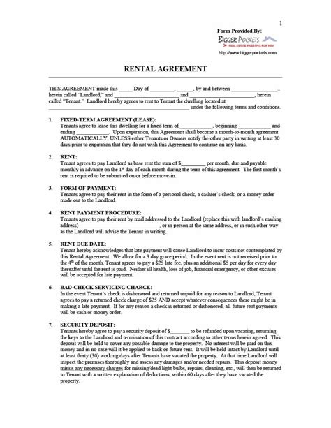 printable rental agreement bc house rental agreement form gallery download cv letter