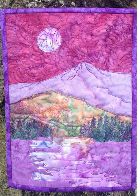 pattern landscape art stitching quilt and landscape art on pinterest