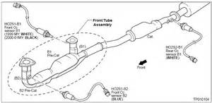 2000 Nissan Maxima Exhaust System Diagram 1999 2001 Nissan Maxima O2 Sensor Identification And