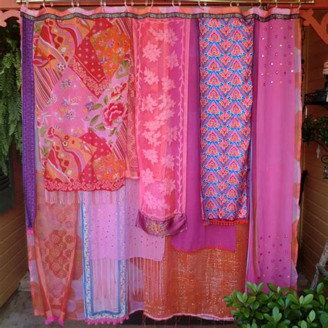 bohemian shower curtains handmade gypsy shower curtain meet me in mumbai