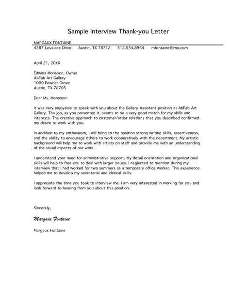 thank you letter after maintenance position free letter of interest templates sle thank