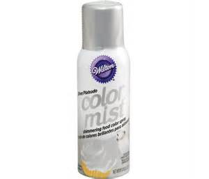 metallic food coloring wilton colour mist silver