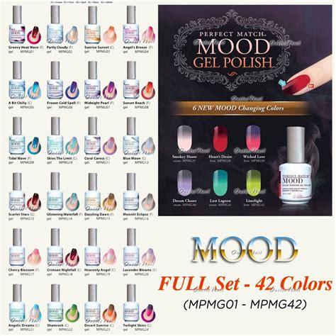 color mood chart mood color changing gel nail polish lechat perfect match mood set 42 6 new 2015 colors 36