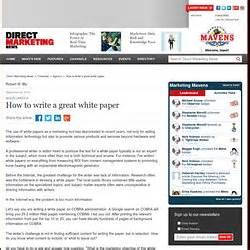 how to write a white paper for marketing white paper howto pearltrees