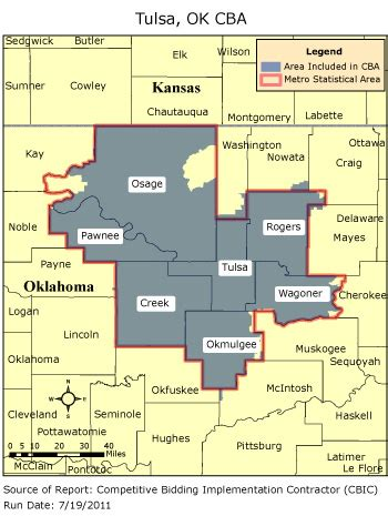 Tulsa Zip Codes Map by Cbic Round 2 Competitive Bidding Area Tulsa Ok