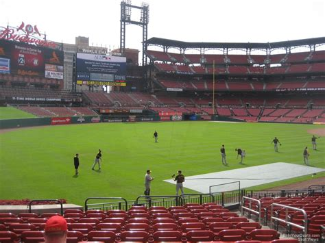 section 168 k busch stadium section 168 rateyourseats com