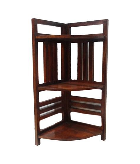 Buy Rack Of by Bajoria Corner Rack Made Of Sheesham Wood Buy At