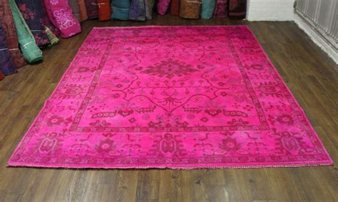 overdyed rugs diy 8 215 10 pink overdyed rug turkish ushak wool 2700 to dye for dye projects
