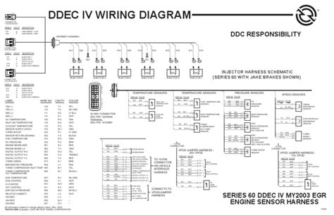 ddec iv egr engine harness