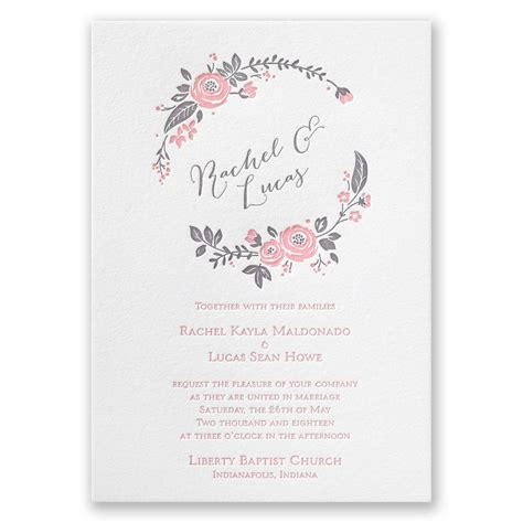Pretty Wedding Invitations by Pretty Letterpress Invitation Invitations By