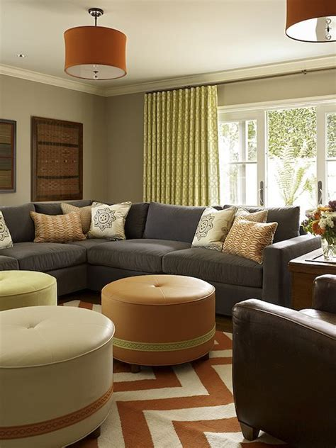 Orange Living Room Rugs by Living Room Design With Blue Modern Sectional