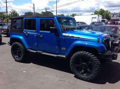 blue jeep jeep wrangler polar edition afterfx customs