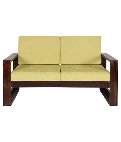 sheesham sofa sheesham wood 2 seater sofa in brown buy sheesham wood 2