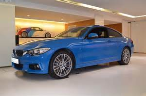 bmw 4 series coupe in blue individual color