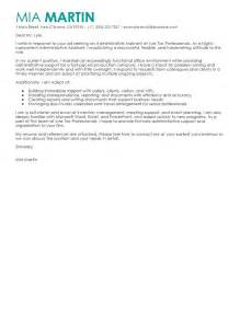Assistant Cover Letter Exles by Leading Professional Administrative Assistant Cover Letter Exles Resources