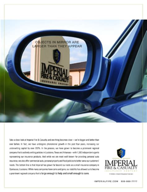 Imperial Fire & Casualty Insurance Company ads in